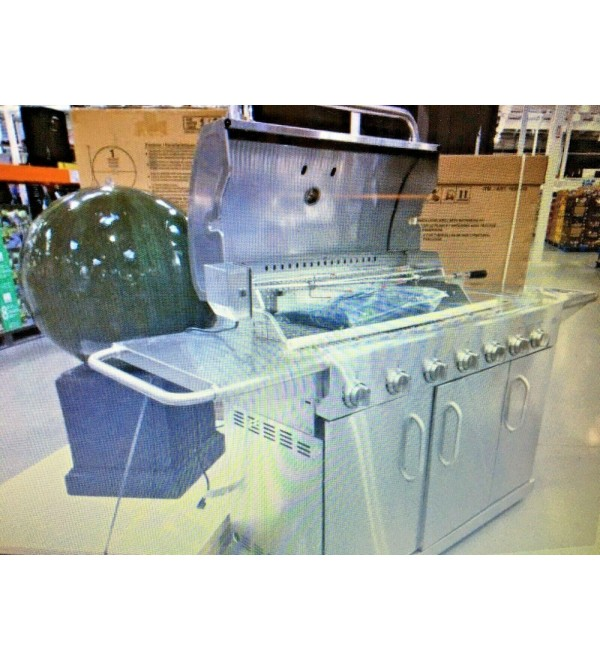 7 BURNER LP/NG GRILL WITH ROTISSERIE KIT