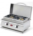 Cal Flame Deluxe Dbl  Built-In NG Side Burner (Ships As LPConversion Kit)