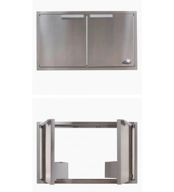 DCS STAINLESS DOUBLE DOOR W/Storage #ADN20X37 FOR OUTDOOR PATIOS, see pics.